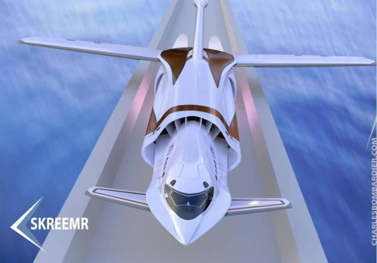 Concept art for the Skreemr aircraft.